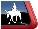 Hunter Under Saddle Mule Window Decal