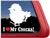 Chick Car Truck RV Trailer Window Decal Sticker