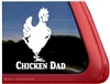 Hen Car Truck RV Trailer Window Decal Sticker