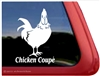 Rooster Car Truck RV Trailer Window Decal Sticker