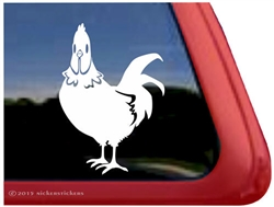 Custom Rooster Car Truck RV Trailer Window Decal Sticker