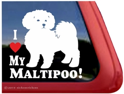 Maltipoo Window Decal