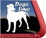 Dogo Limo Dogo Argentino Dog Car Truck RV Window Decal Sticker