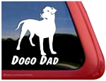 Dogo Dad Dogo Argentino Dog Car Truck RV Window Decal Sticker