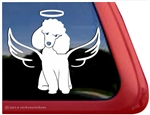 Custom Poodle Angel Dog iPad Car Truck Window Decal Sticker