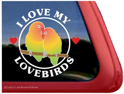 Lovebirds Window Decal