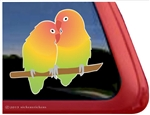 Custom Lovebirds Bird Car Truck RV Window Decal Sticker