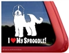 Sproodle Dog Window Decal