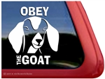 Nubian Goat Window Decal