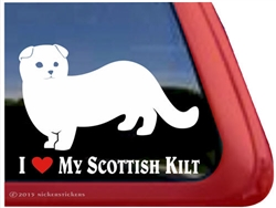 Custom Scottish Kilt Window Decal