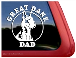Harlequin Great Dane Dad Car Truck RV Window Decal Sticker