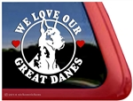 Harlequin Great Dane Car Truck RV Window Decal Sticker