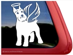Custom Angel Schnauzer Dog Car Truck RV Window Decal Sticker
