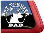 Rat Terrier Dad Dog Car Truck RV Window Decal Sticker