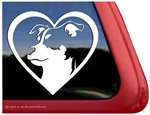 Rat Terrier Love Dog Car Truck RV Window Decal Sticker
