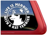 Rat Terrier Dog Car Truck RV Vinyl Window Decal Sticker