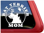 Rat Terrier Dad Mom Car Truck RV Window Decal Sticker