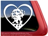 Dalmatian Dog Love Heart Window Car Truck RV Decal Sticker