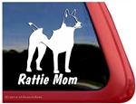 Decker Giant Rat Terrier Dog Car Truck RV Window Decal Sticker