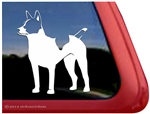 Custom Decker Giant Rat Terrier Dog Car Truck RV Window Decal Sticker