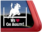 Chihuahua Agility Dog Car Truck RV Window Decal Sticker