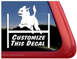 Custom Chihuahua Agility Dog Car Truck RV Window Decal Sticker