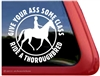 Thoroughbred Riding Horse Trailer Car Truck RV Window Decal Sticker