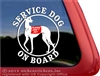 Greyhound Service Dog iPad Car Truck RV Window Decal Sticker