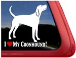 Coonhound Window Decal