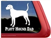 Plott Hound Dad Dog Car Truck RV Window Decal Sticker