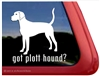 Got Plott Hound Dog Car Truck RV Window Decal Sticker