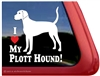 Plott Hound Love Dog Car Truck RV Window Decal Sticker