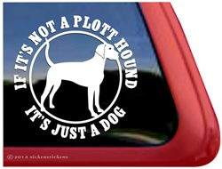 Plott Hound Dog Car Truck RV Window Decal Sticker
