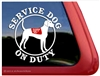 Plott Hound Service Dog Car Truck RV Window Decal Sticker