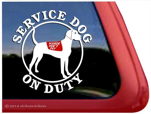 Plott hound service dog car truck rv window decal sticker larger photo email a friend