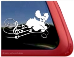 Custom Musical Cocker Spaniel Dancing Dog Car Truck RV Window Decal Sticker