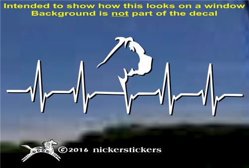 Pit Bull Heartbeat Dog Decals Amp Stickers Nickerstickers