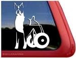 Custom Cropped Boxer Dog Wheelchair Handicapped DEGENERATIVE MYELOPATHY Decal Sticker Car Auto Window iPad