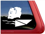 Pomeranian Dock Dog Window Decal