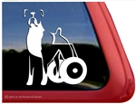 Boxer Dog Wheelchair Handicapped DEGENERATIVE MYELOPATHY Decal Sticker Car Auto Window iPad