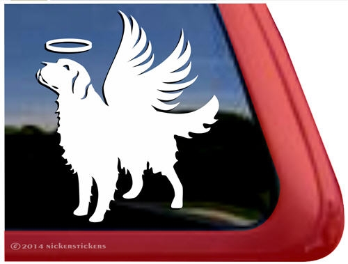 Memorial golden retriever dog car truck rv window decal sticker larger photo email a friend