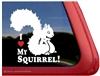 Squirrel Window Decal