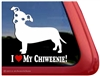 I Love My Chiweenie Dog iPad Car Truck RV Window Decal Sticker