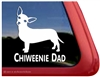 Chiweenie Dad Dog iPad Car Truck RVe Window Decal Sticker
