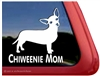 Chiweenie Mom Dog iPad Car Truck RVe Window Decal Sticker