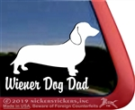 Wiener Dad Dachshund Dog Car Truck RV Window Decal Sticker