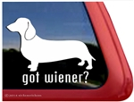 Got Wiener Dachshund Dog Car Truck RV Window Decal Sticker