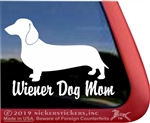Wiener Dog Mom Dachshund Dog Car Truck RV Window Decal Sticker