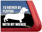 Playing with My Wiener Dachshund Dog Car Truck RV Window Decal Sticker