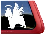Custom Memorial Cocker Spaniel Angel Dog Car Truck RV Window Decal Sticker